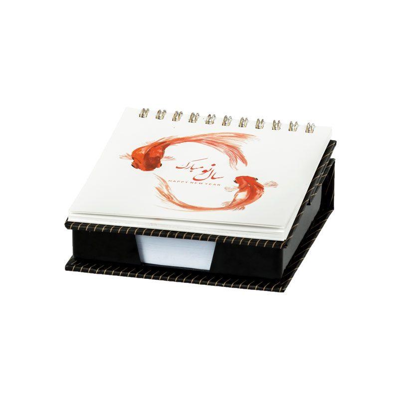 تقویم رومیزی و یادداشت 1398 | جعبه یادداشت تکی