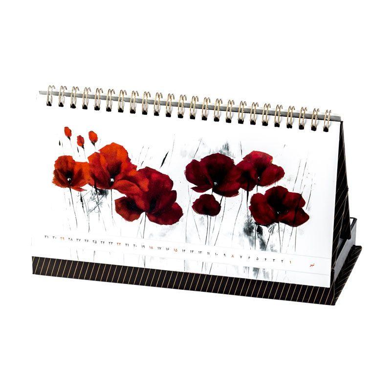تقویم رومیزی و یادداشت 1398 | جعبه یادداشت دو قلو