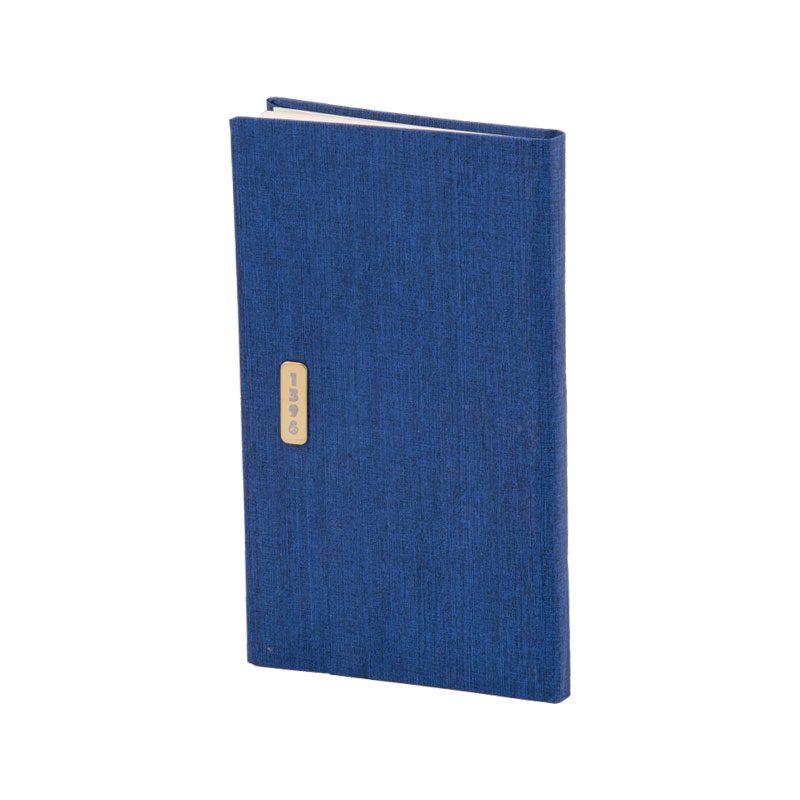 تقویم جیبی 1398 با جلد گالینگور کتان رنگ سرمه ای
