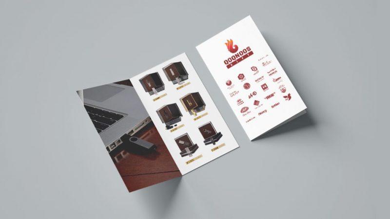 فایل طراحی بروشور 2 لت