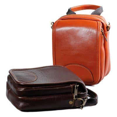 کیف چرم اسپرت | دو رنگ عسلی و قهوه ای